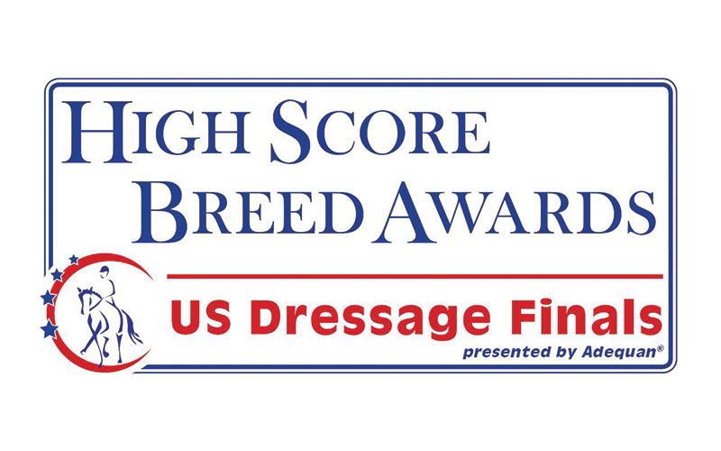 US Dressage Finals  2016 High Score Breed Awards